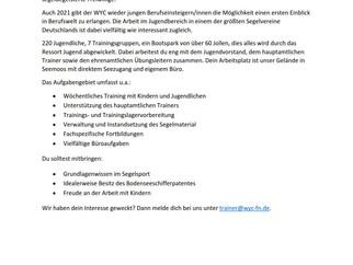Der Württembergischen Yachtclub sucht: