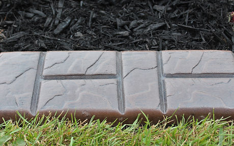 H-Brick hand stamp over Slate texture .j