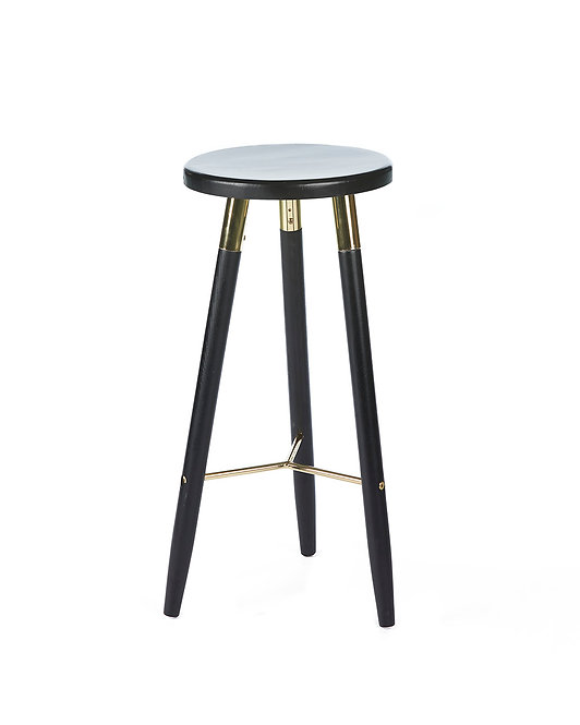 Nordic Bar Stool Black - Gold