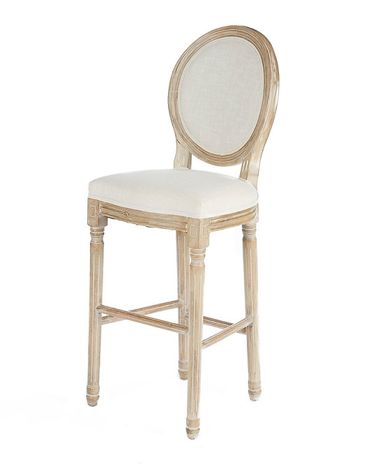 Louis Linen Bar Stool