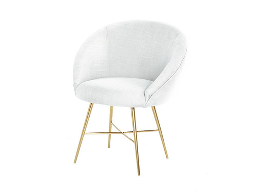 Lunar Linen Chair - Grey