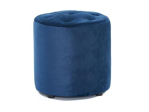 Pod Velvet Ottoman - Navy Blue