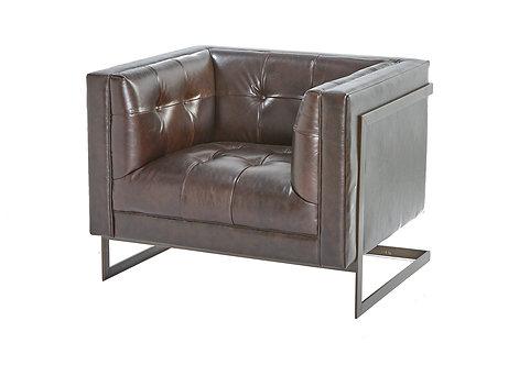 Churchill Leather Armchair - Chestnut