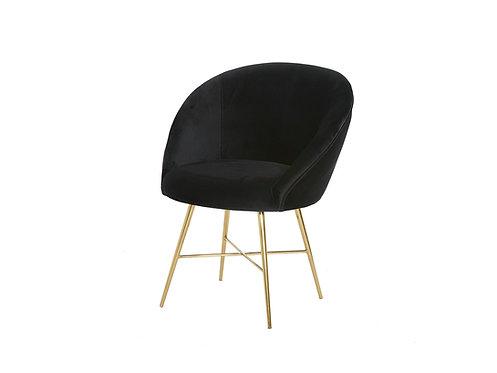 Lunar Velvet Chair - Black