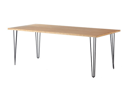 Black Hairpin Dining Table