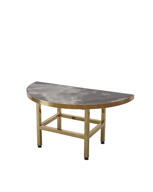 Venice Brass & Half Dark Marble Coffee Table