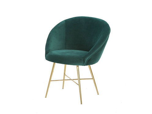 Lunar Velvet Chair - Forest Green