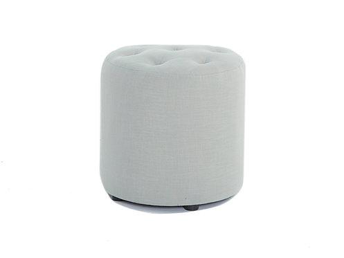 Pod Linen Ottoman - Grey