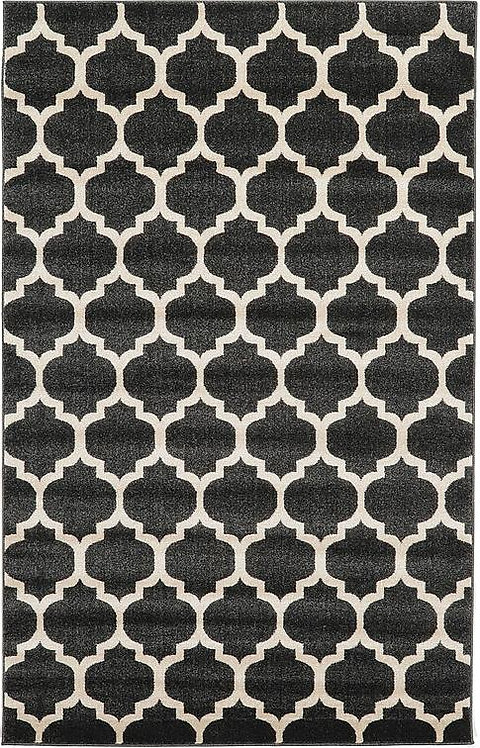 Black & White Lattice Rug