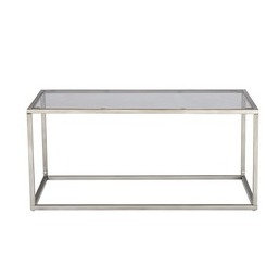 Glass & Silver Box Coffee Table