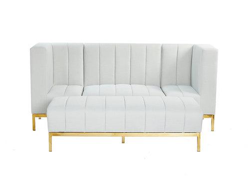 Channelled Modular Set - Grey Linen