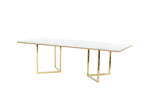 White Trestle 2.4m - Gold Legs