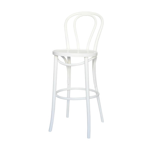 White Bentwood Bar Stool