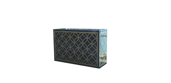 Gold Trellis Pattern Bar - On Black