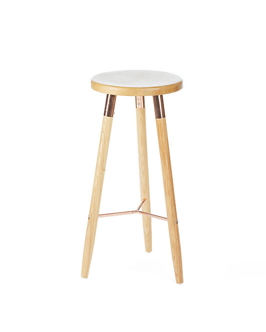 Nordic Bar Stool Wood - Copper
