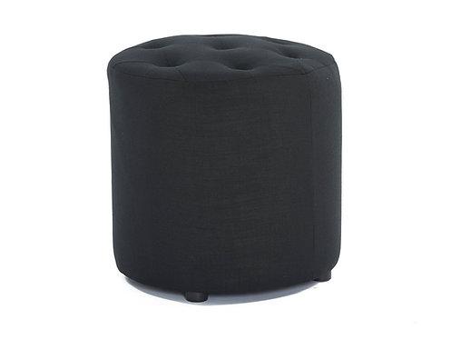 Pod Linen Ottoman - Black