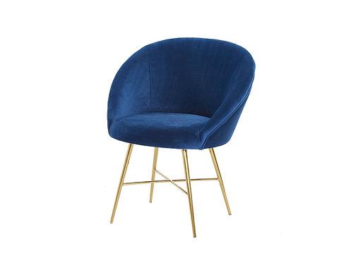 Lunar Velvet Chair - Navy