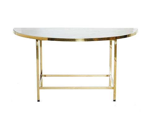 Venice Brass & Dark Marble Cafe Table Half