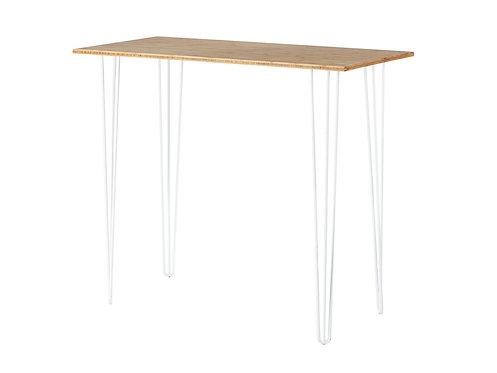 White Hairpin Bar Table