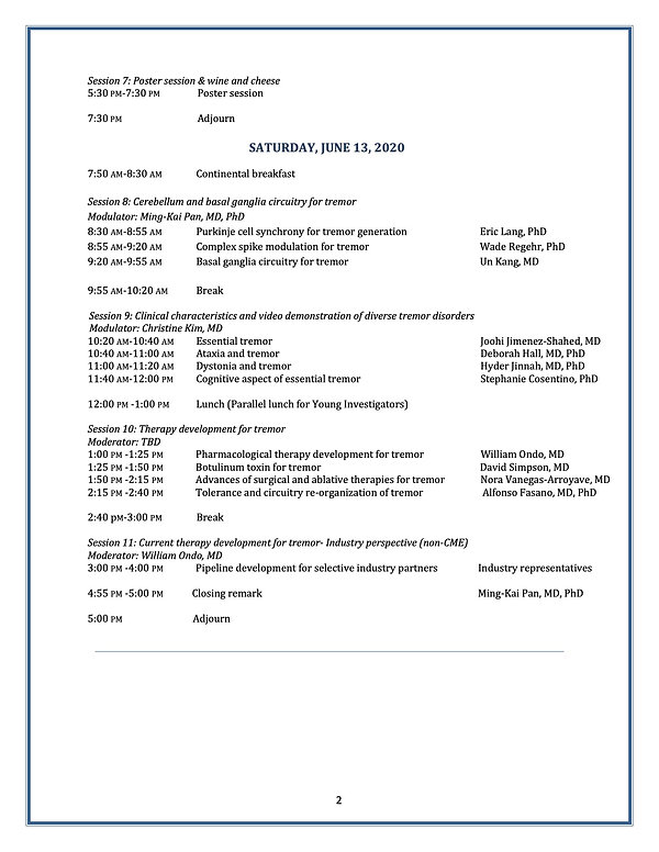 International Tremor Congress 2019 10-15