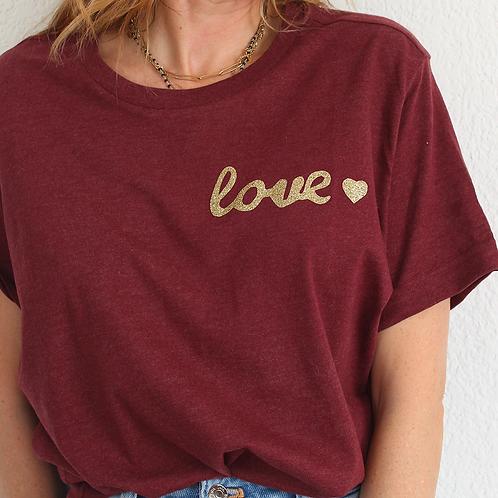 Tee-shirt Love Bordeaux