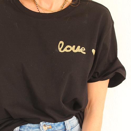Tee-shirt Love Noir