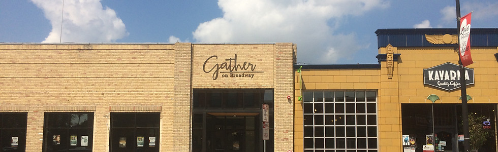 Gather on Broadway exterior signage