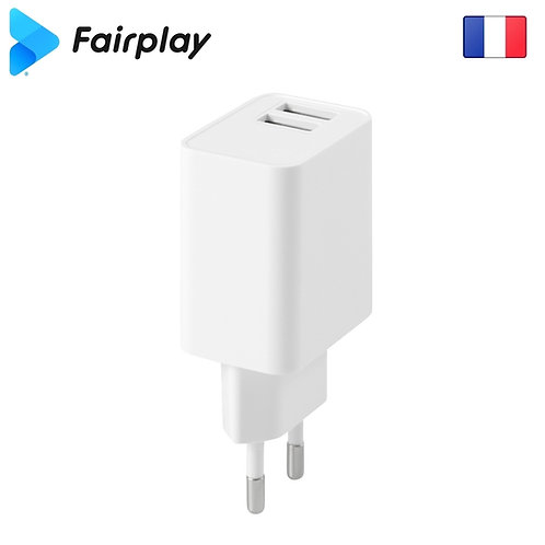 FAIRPLAY VENEZIA Chargeur 12W/2USB (Blanc)