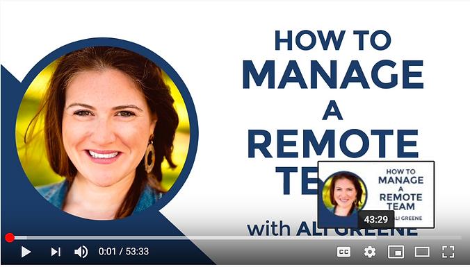 Webinar: How to Manage a Remote Team