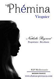 Etiquette_Phémina_VIOGNIER_sans_contour.