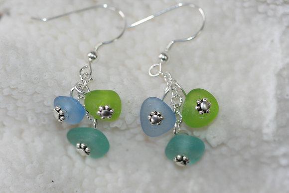 sea glass earrings SGE-13