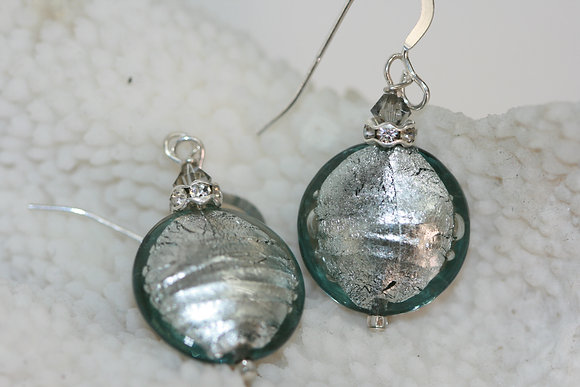 Murano glass, sterling silver earrings MGGE -04