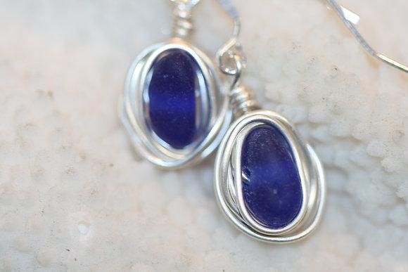 sea glass earrings SGE-15