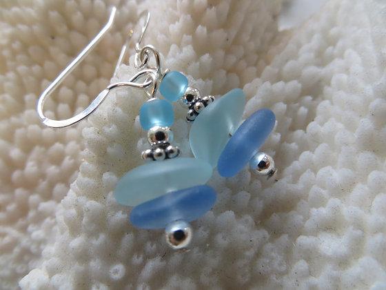 sea glass earrings SGE-12
