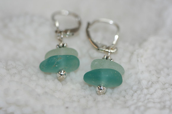 sea glass earrings SGE-11