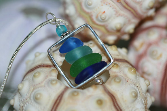sea glass necklace SGN-05