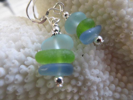 sea glass earrings SGE-09