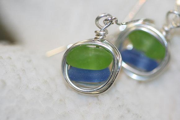 sea glass earrings SGE-03