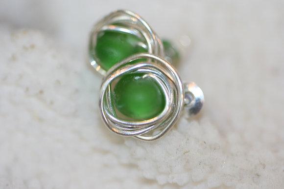 sea glass earrings SGE-16