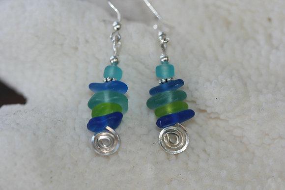 sea glass earrings SGE-02