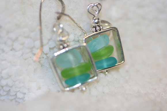 sea glass earrings SGE-14