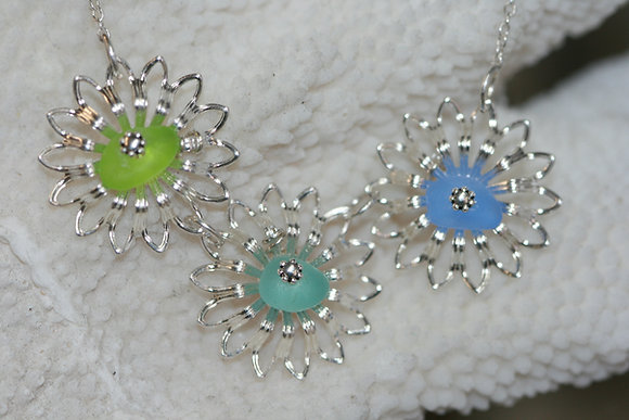 sea glass necklace SGN-01