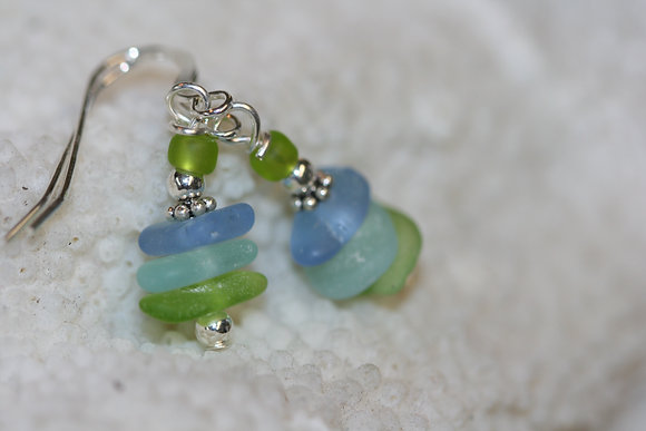 sea glass earrings SGE-06