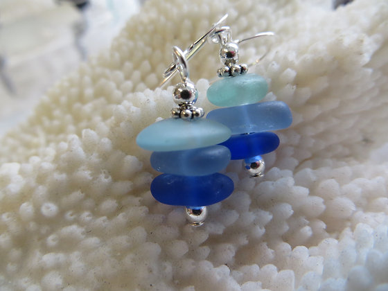 sea glass earrings SGE-10