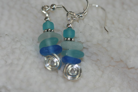 sea glass earrings SGE-08
