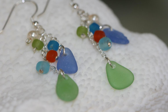 sea glass earrings SGE-18