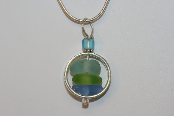 sea glass necklace SGN-06