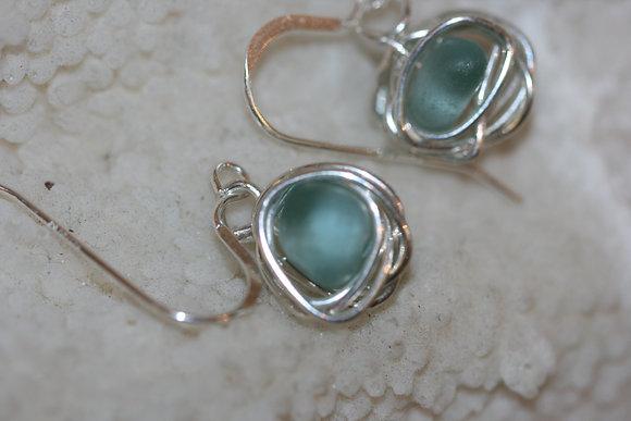 sea glass earrings SGE-17