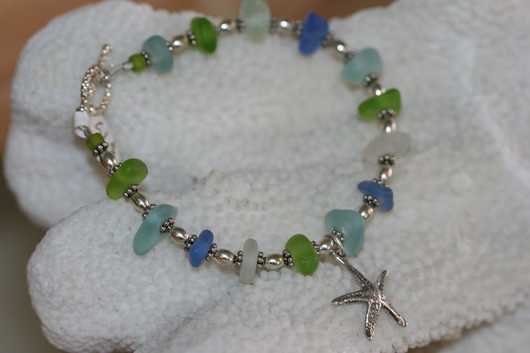 sea glass bracelet SGB-03