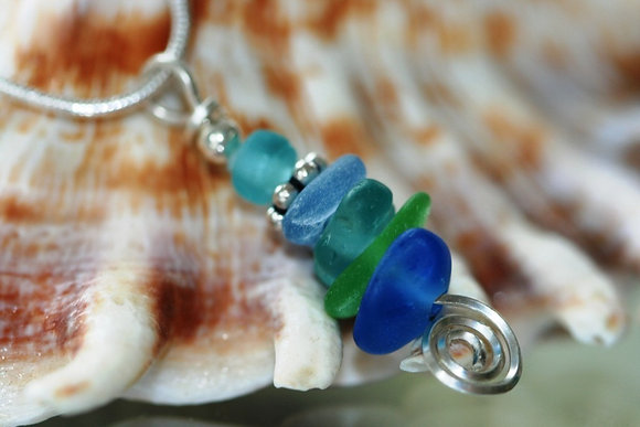 sea glass necklace SGN-02